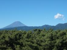 富士山がくっきり見える!